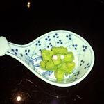 日本料理雲海 - 小鉢の、筍の木の芽和え(天麩羅御膳)。