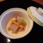 日本料理雲海 - 焚合わせの、煮物椀(天麩羅御膳)。