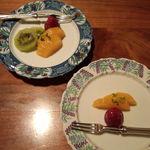 日本料理雲海 - 果物(瀬戸内御膳&天麩羅御膳)。
