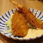 とんかつ小田保 - エビアジ定食