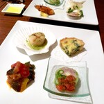 Karushifazuguriruaratosukana - 前菜ワゴンより選べる、前菜盛り合わせ