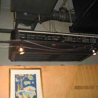 高性能空気清浄機 店内のウィルス、ホコリを除去します