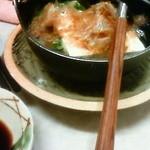 立飲み東京キクマ - 湯豆腐。冬場のみ