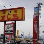 廻る富山湾 すし玉 - すし玉から、掛尾町交差点を、見る。