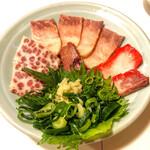 えらぶ - 料理写真:特選 ミンククジラの盛り合わせ
