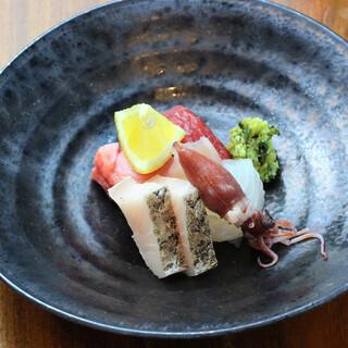 こだわりの鮮魚と旬菜