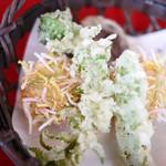 いばらき食彩香寿亭 - 海老しんじょうと茨城野菜の天婦羅