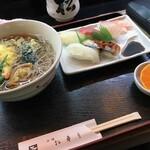 松寿司 - 天ぷらそばセット
