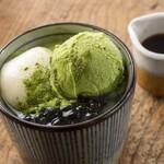 四十八漁場  - 煎茶アイスあんみつ