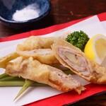 島たいむ がんじゅう - あぐー豚の谷中生姜巻き天ぷら