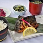 レストラン 海幸苑 - 鯖醤油干し定食!小浜の定番「醤油干し」醬油の風味をご堪能下さい。