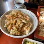 天一坊 - 料理写真:「ミニかき揚げ丼」。同じ価格の「ミニ天丼」の方がネタや揚げ具合も良いですね