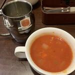 KINGS - スープ(ミネストローネ)、ドリンク