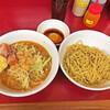 ラーメン二郎 - 料理写真:つけ麺少なめ+味ぽん生たまご