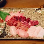 鉄板鶏舎tori to tamago - 土佐ジロー肝焼き