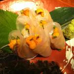 竈 - 真鯛のウニ巻き