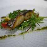 piccole lampare & rooftop Sky Bar - お魚料理は鰆でした。自家製スモークしてあって香り高く、火の通りも絶妙。
