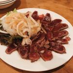 Bisutorohitsujiya - 薄切りラムのレアステーキ