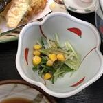 清水庵 - サラダ(?)美味しい