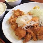 中国料理 龍花 - 鶏の甘酢ソース定食(650円)