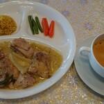 126765215 - チキンレモンソース煮 ランチスープ