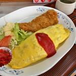 食事処 アカギ - 料理写真:オムライスカツ 850円