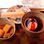 12677462 - お通し&ホットウーロン茶(380円)