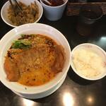126781550 - 汁ありパイコー担々麺1,200円(税込)とサービスライス