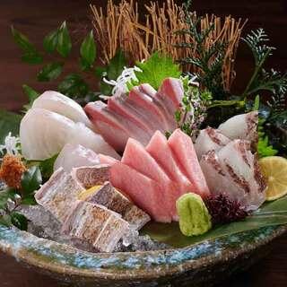 毎日届く鮮魚の美味しさをお刺身でどうぞ。