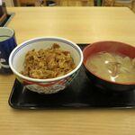 吉野家 - 料理写真:牛丼小盛+あさり汁(539円)