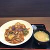 岩見沢サービスエリア(上り) - 料理写真:海鮮黒醤油あんかけ飯¥820