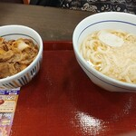 なか卯 - 和風ミニ牛丼+はいからうどん(並)