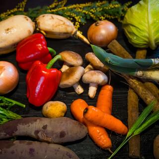季節や産地にこだわった、有機野菜や無農薬野菜を皆様にご提供