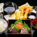 海鮮×寿司 魚衛門 - 魚衛門の刺天定食