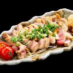 海鮮×寿司 魚衛門 - 地鶏のたたき