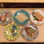 Ebisuchuukataizan - 前菜五種盛り