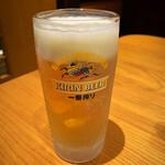 おらんく家 - 生ビール