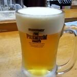 十割蕎麦 韃靼 穂のか - 生ビール:450円