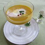 12682866 - 冷製スープ(かぼちゃ)