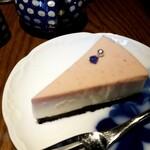 眞踏珈琲店 - 苺のレアチーズケーキ