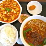 満香楼 - 料理写真:600円セット 麻婆&台湾