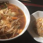 中国料理 檸檬亭 - 料理写真:横浜サンマー麺とミニチャーハンセット ¥830外税
