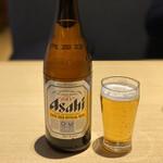 尾張那古野 天丼 徳川忠兵衛 - 瓶ビールはスーパードライ