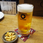 Dokushakusanshirou - 酢大豆 & 生ビール