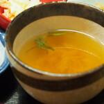 独酌 三四郎 - おかみ旬の盆(蟹かき玉汁)