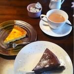 かふぇ かじ川 - チーズケーキ、ショコラケーキと紅茶