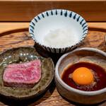肉割烹 上 - すき焼き イチボ