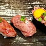豊年満作 - 石垣牛炙り寿司3貫セット