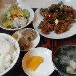 三福 - 120423神奈川 三福飯店 鳥のうま煮定食850円