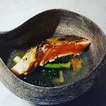 グリーチネ - 琵琶湖 中村さんの一本釣りビワマス 春のスープ